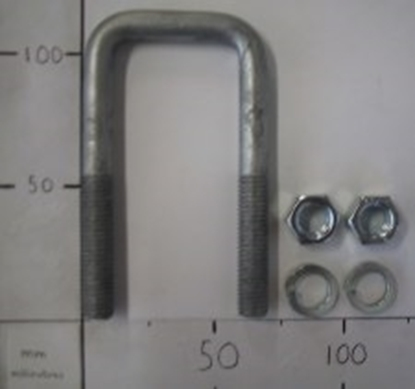 Picture of 100x45x12MM SQ U-BOLT GALVANISED