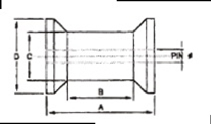 Picture of ROLLER-C/REEL 115X 75X17 BLACK